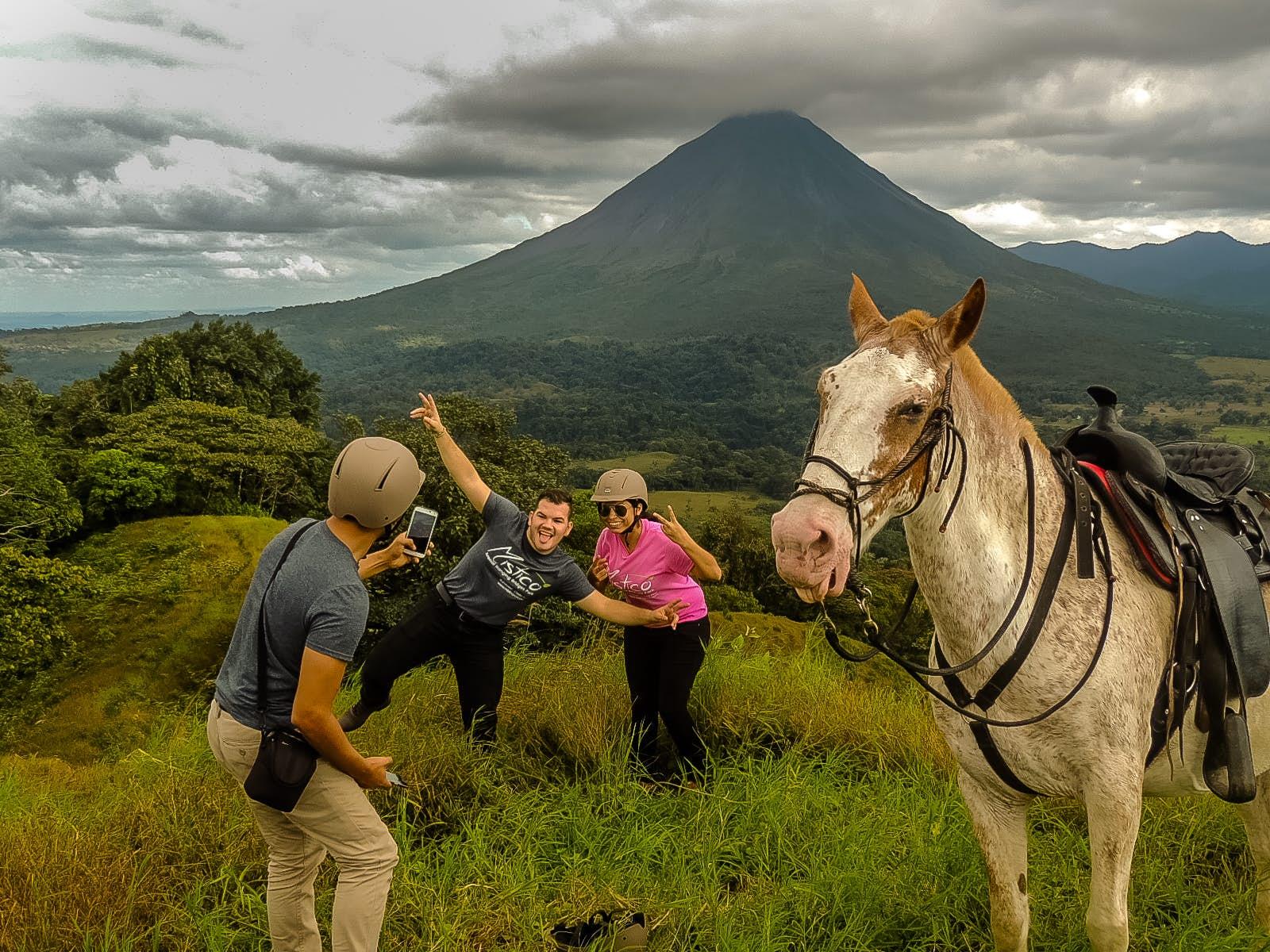 Enjoy a horseback riding tour at Mistico Park