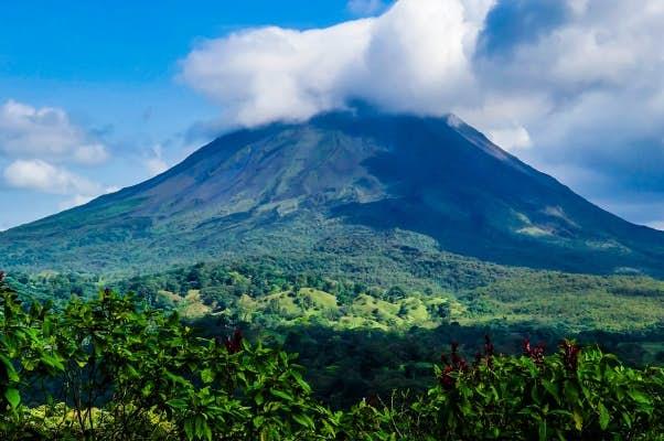 Volcanoes in Costa Rica.
