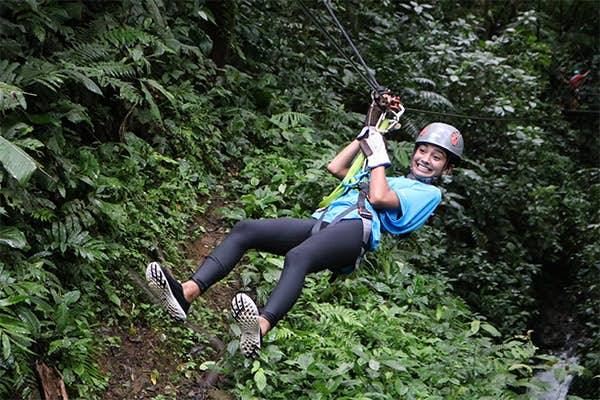 Canyoning in Costa Rica.