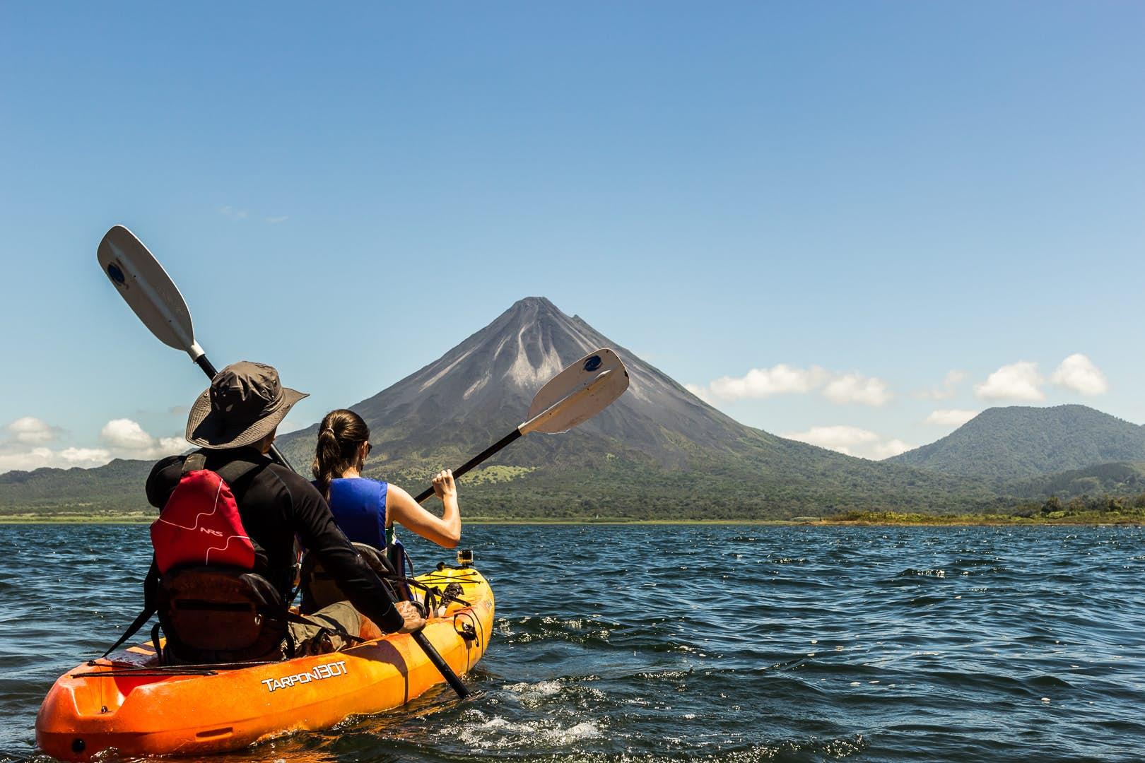 Kayaking at Arenal Volcano Costa Rica